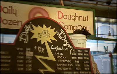 1217 dozen  Best dang doughnuts in Pike Market..  Just ask the spokesrat in the bucket.  Mike and I both passed.