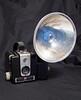 75 of 365<br /> <br /> A Kodak Brownie Hawkeye with a flash unit attached.