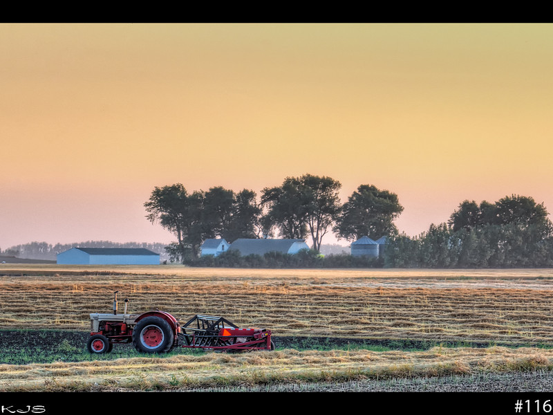 Day's End<br /> Harvest is in full swing and the skys are just a haze of dust from all the farming.