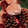 Day 90. October 6, 2010. A Stanford Bookstore Holiday Cow with two pine cones. First time I used my 85mm prime in months.<br /> <br /> EF 85mm f/1.8 @ f/2.2. 1/125s. ISO 400.