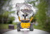 Wall-e<br /> Wall-e and his tinfoil have decided to predict the weather and they predict rain in the very near future.