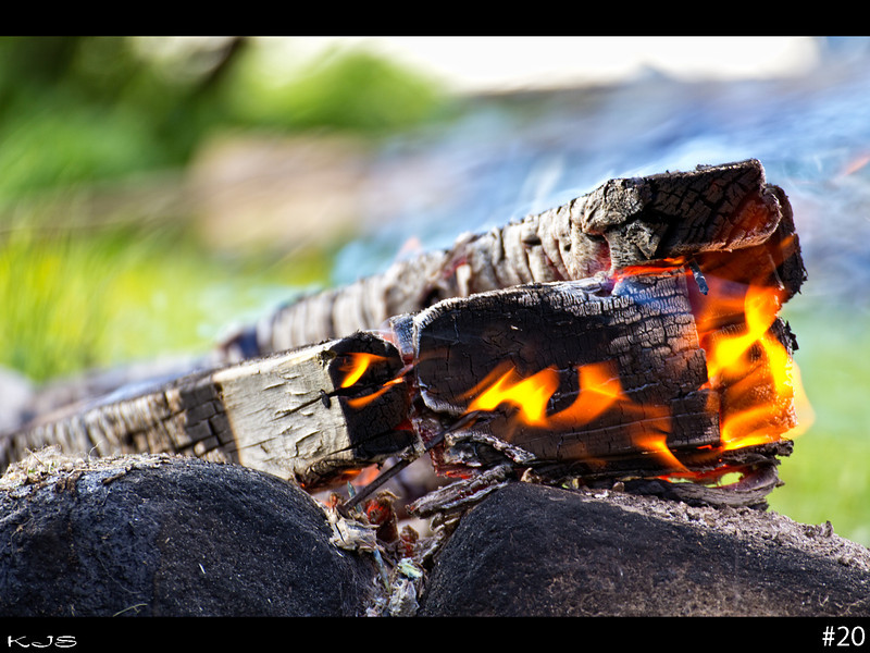 The fascination of fire has existed through out history. It definitely demands respect, so be careful with your summer bonfires.