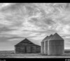 Farm<br /> It's been a while since I did a black n white and after shooting this today, it seems to fit the black n white treatment. Love how the sky turned out.