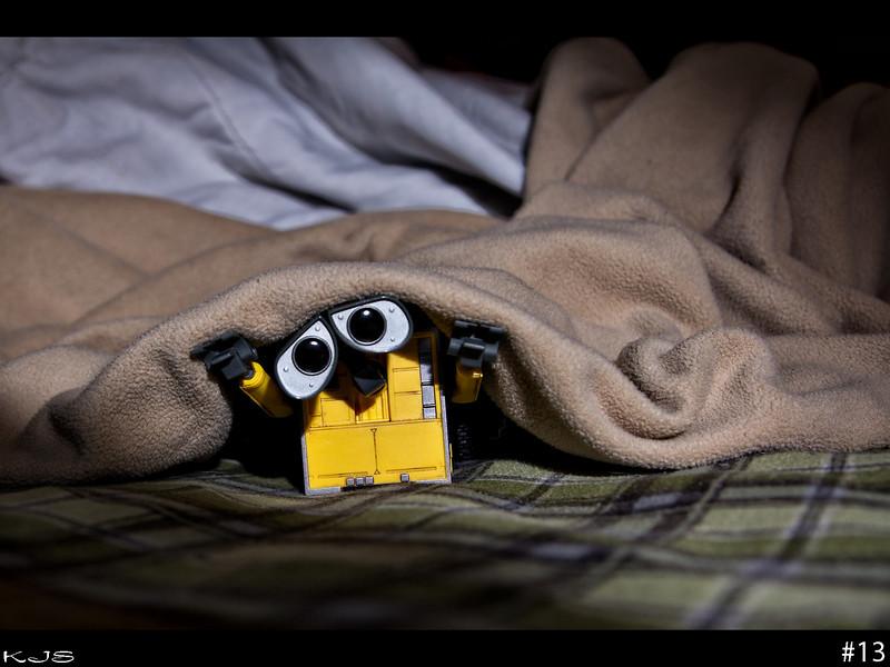 Wall-e isn't a fan of scary movies.