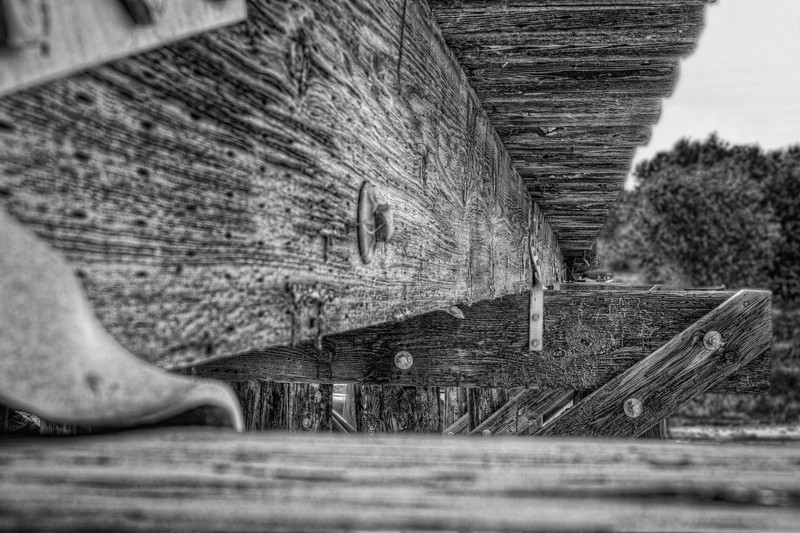 Bridge<br /> Checking out a new area today and ran across this old wooden railroad bridge. Something about a wooden bridge that makes ya stop and look