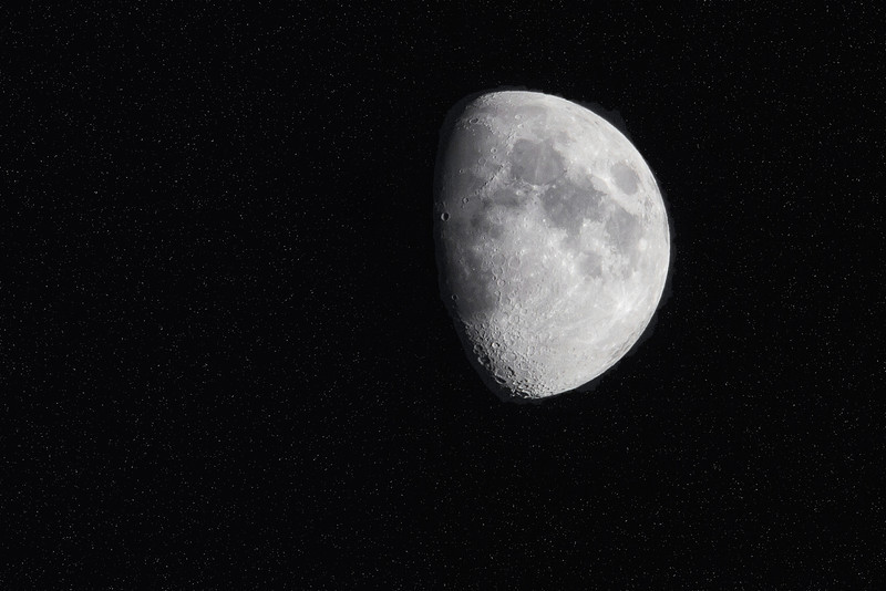 Waxing Gibbous 74% full. September 29th will be the full moon for September aka Full Harvest Moon.<br /> On a side note, this makes for photo 500 in my daily photo. 500 straight days of taking at least one pic a day.