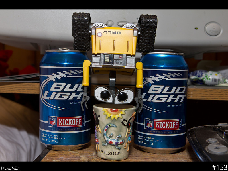 Apparently Wall-e has found the solution to watching the Minnesota Vikings play football