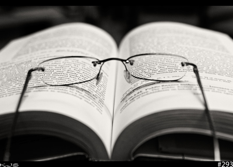 Reading<br /> The power of focus and the older we get the focusing tools sure can come in handy.