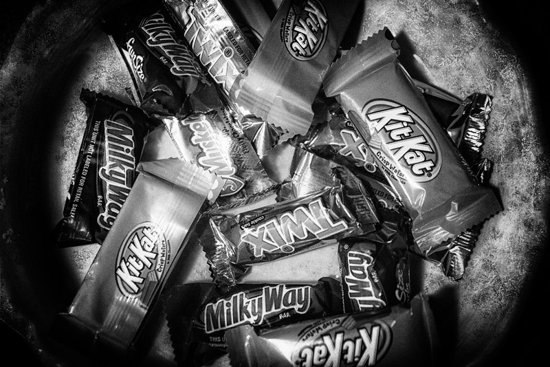 Trick or Treat<br /> Yesterday brought out the bowls of candy for all creatures stirring about rushing from place to place to get their treats.