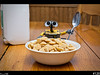 Wall-e<br /> Wall-e made breakfast, remember folks, breakfast is suppose to be our most important meal of the day.