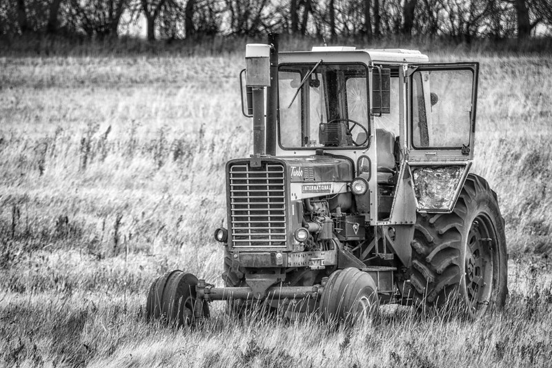 International Tractor<br /> It's been a while since this tractor has moved. On a cold and gloomy day, it makes a great daily photo. At least it didn't snow today.