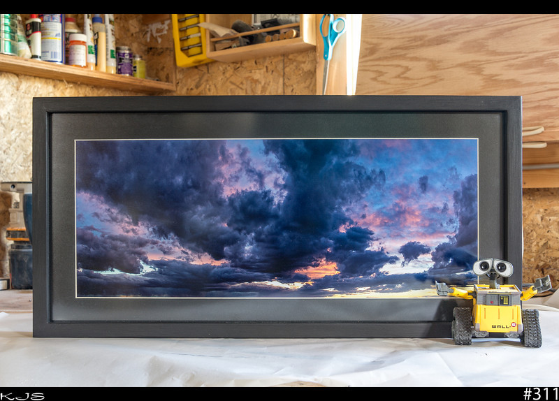 """Wall-e<br /> I finally got this one framed up with the help of Wall-e. This picture is going into a silent auction to help a local family with medial cost for a sick child.  <a href=""""http://www.facebook.com/events/316133011768380/"""">http://www.facebook.com/events/316133011768380/</a>"""