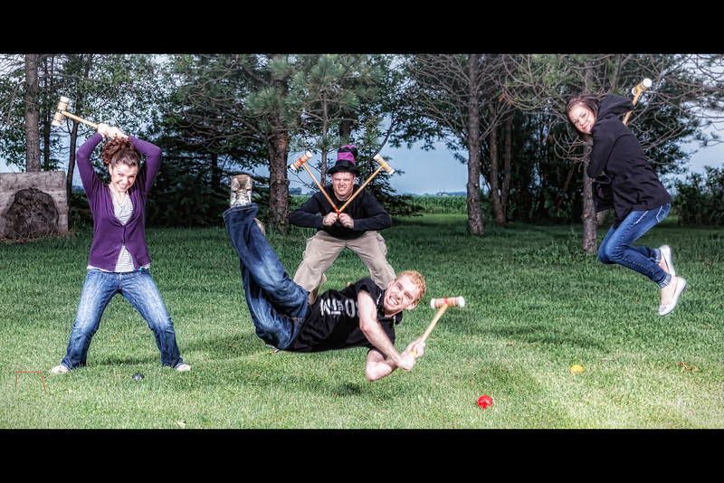 Friendly Game of Croquet<br /> Happy Fathers Day Everyone. It was a great day for a family game of croquet.