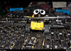 Wall-e<br /> Wall-e was checkin out the new magnetic tool that I got for Xmas. He figures it will for sure come in handy