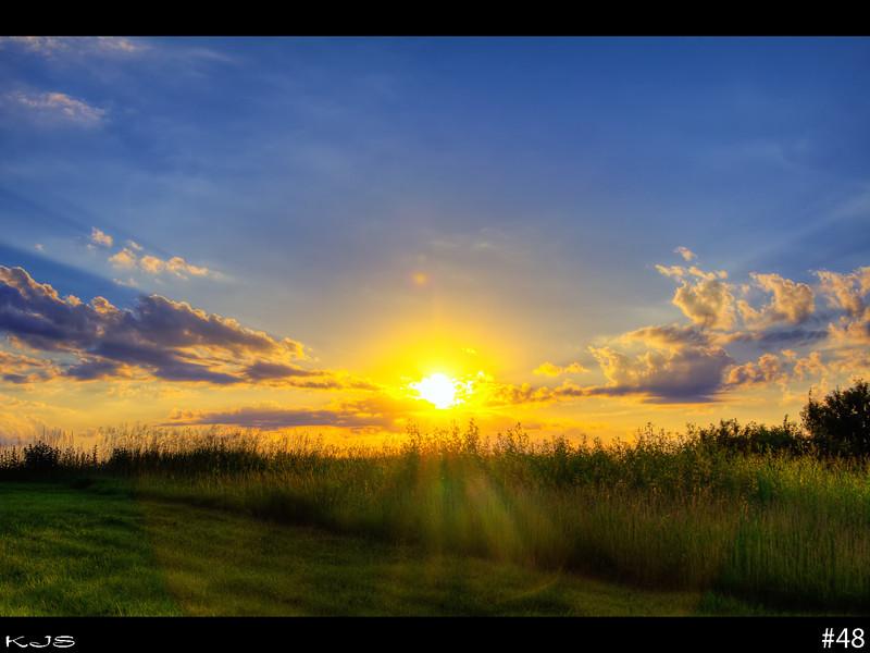 July 3rd's sunset, 3 shots, photomatix.