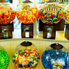 Candy dispensing stand in Perimeter Mall.