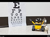 Wall-e was relieved when he passed his eye examination.