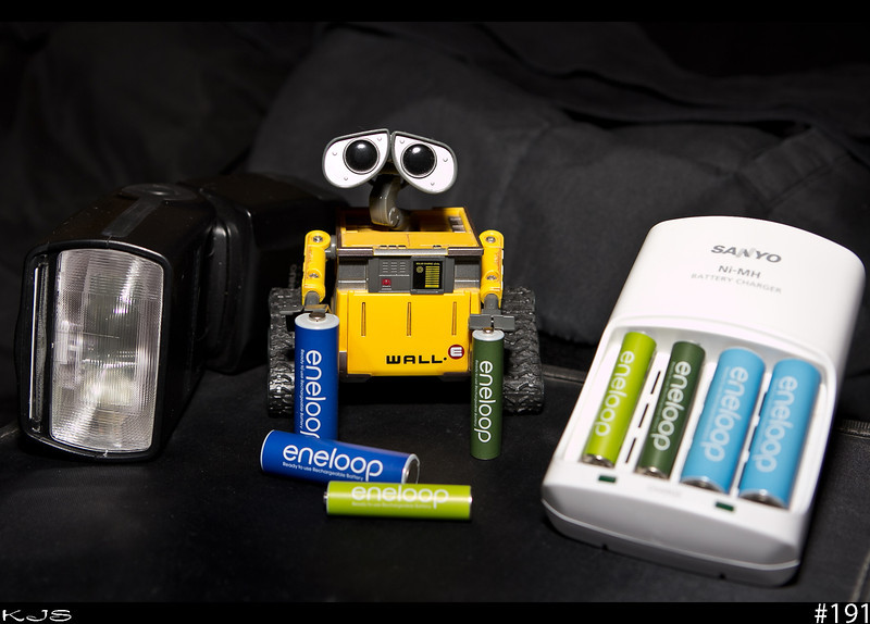 Wall-e<br /> Wall-e is going on record and recommending eneloop batteries as they hold their charge over a long period of time while in storage. They also give great performance in flashes.