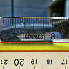 1103 stapler<br /> <br /> I tried to think of something other than a straight shot for this theme.  I noticed the Staples logo on my ruler and thought I'd try shooting a stapler through the ruler.  It doesn't work very well.