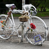 1026 ghostly<br /> <br /> A ghost bike, parked eerily outside a cemetery.