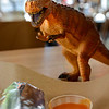 1207 primitive <br /> <br /> Laughing Planet Cafe has dinosaurs that roam the table tops.  I usually get the habanero hot sauce to keep them away from my burritos.
