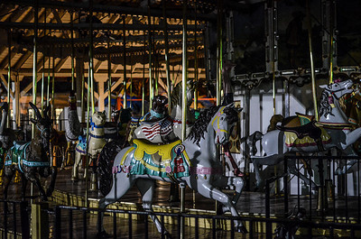 1220 my favorite place  Portland is my favorite place, hands down.  And of all the places that make up this wacky ville, one of my favorites is Oaks Amusement Park.  Opened in 1905 it retains the charm of a simpler time.  Many of the rides have been around for decades, and the wooden carousel is just one example.  It's also home to a roller rink with a 60 year old Wurlitzer organ for music, and a wooden floor built to float should Willamette River spill over its banks.  The park has no gates, so it's available for early morning walks before the crowds arrive, and it's also a great place to poke around after an evening of shooting roller derby.  I often drag out-of-town visitors to the park for some early morning photowalks.... don't I Steven? ;-)