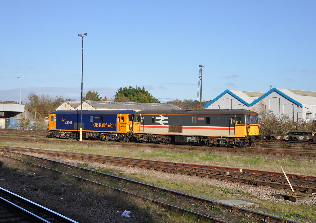 73205 and 73141, Eastleigh.