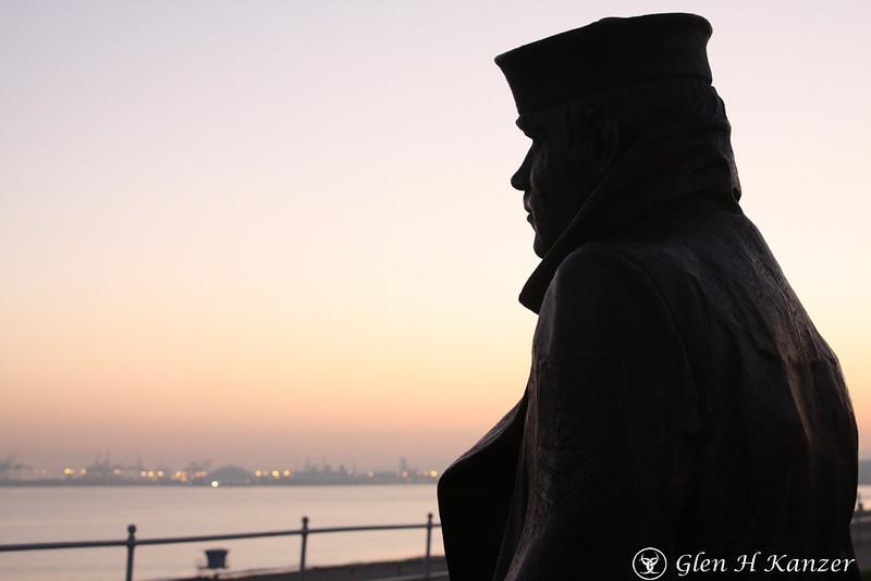 Sailor standing guard