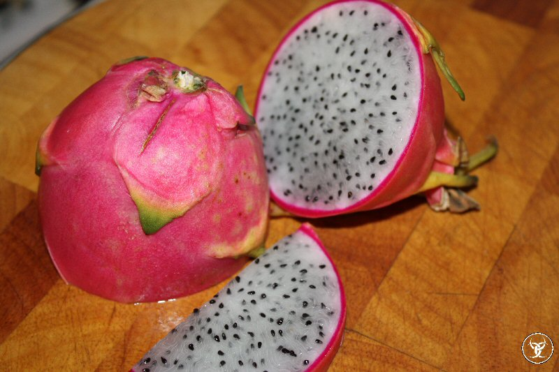 Dragon Fruit - I was always told to try everything once, that way you could honestly say if you liked it or not.  I was in the Cambodian Grocery the other day and saw this.  Had to get it.  Little sweet.. kind of bland.