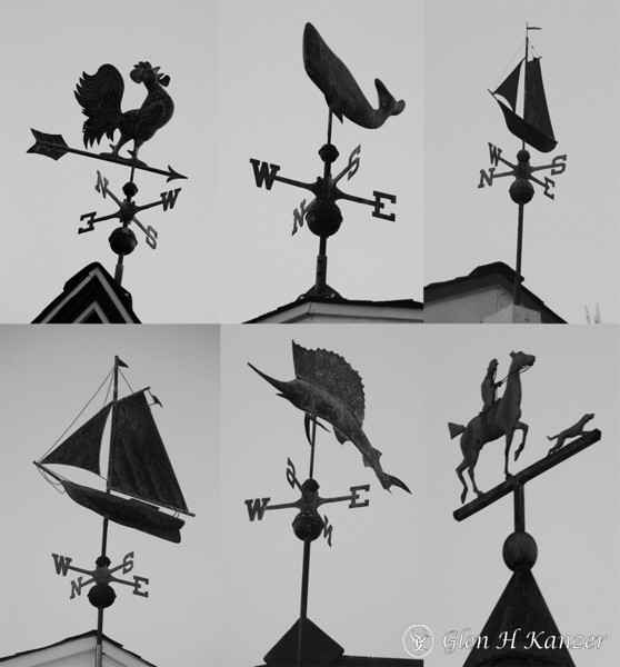 In the neighborhood where I live, I just took a walk and realized that most of the old historical houses have weathervanes.  I still blame Sam and Jim
