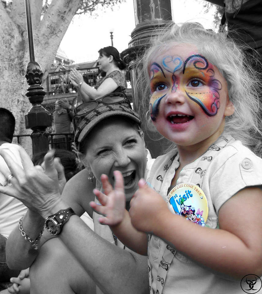 Just playing with an existing picture of the first time we took my granddaughter to Disneyland