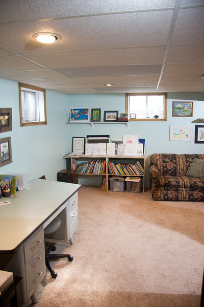 2nd office area behind the family room. Has also doubled as a guest room.