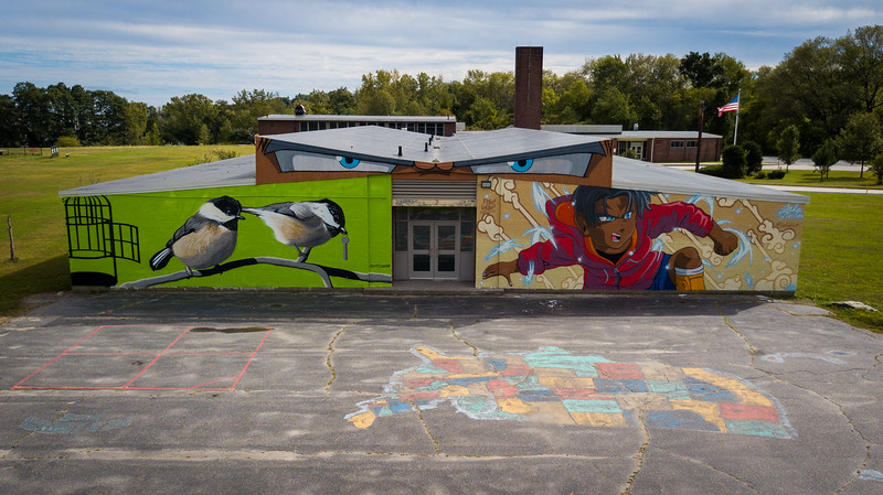 52 Weeks | 38 of 52<br /> My elementary school – Clark St. – gets the POW WOW Worcester treatment. <br /> <br /> This is such a great thing happening around the city. Please check it out.