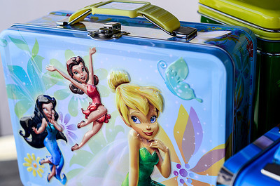 1204 box  Lunch always tastes better when there are fairies on your lunch box.