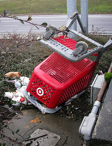 1224 clutter  Looks like Target applies the same high level of security used to protect their customer data as they do to keep track of their shopping carts.