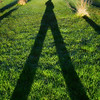 10 Shadow.  Spotted this the other day when taking the dog out early but of course no camera.  Today was another sunny day so this time took the camera - and yes that's me and the dog - the shadows that is.