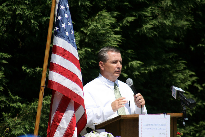 Sheriff Terry Langley Speaks at the Carroll County TEA Party