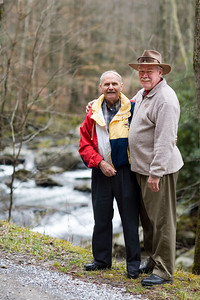 Mar. 29, 2008  Me and Dad beside the stream just below the turnaround at Tremont, GSMNP.