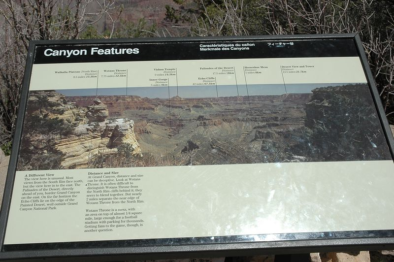 Canyon Features From Grand View