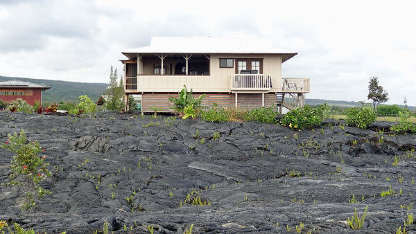 Hawaii Big Island Lava flow-Land and Sea 2013