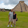 2013-11-25. Two Traveling Tourists. Alternate T for Donna's Alphabet Challenge. My hubby and I at the ruins of Chichen Itza.  Thanks for the great comments on my tower photo yesterday! It was fun seeing all the wonderful T's!