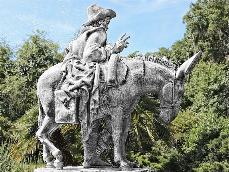 2013-11-03. Sculpture of Don Quixote. Brookgreen Gardens. South Carolina