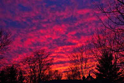 01-17-2013. Sky on Fire. This was taken from our driveway last night on our way to dinner. Got another shot a couple miles down the road:  http://kjakes1.smugmug.com/Landscapes/Landscapes/i-MSgwp6j/0/X2/_V8A0687-X2.jpg I don't remember seeing the sky like this before.  Thank you so much for your support and thoughtful comments yesterday!