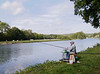 Fishing along the Yonne River in France (10-4-12)