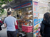 The coffee cart is ubiquitous in Manhattan and probably in all other urban areas as well. Nearly everyone stops for coffee if not breakfast of a donut or an egg-on-a-roll with their coffee on their way to work. (9-10-12)
