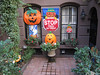 Walking down the street to work, I passed this yard decorated for Halloween. The kids in the neighborhood have 2 1/2 weeks to wait until they can Stop, Trick or Treat. (10-11-12)