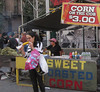 Corn on the cob, street fair in Manhattan (10-20-12)