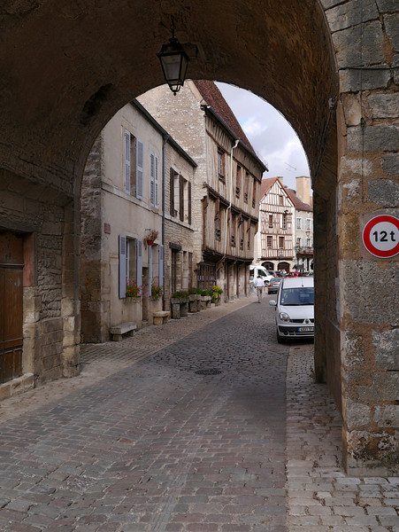 gate into Noyers, France (10-3-12)