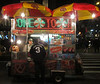 Night hot dog stand in midtown, NYC (10-17-12)