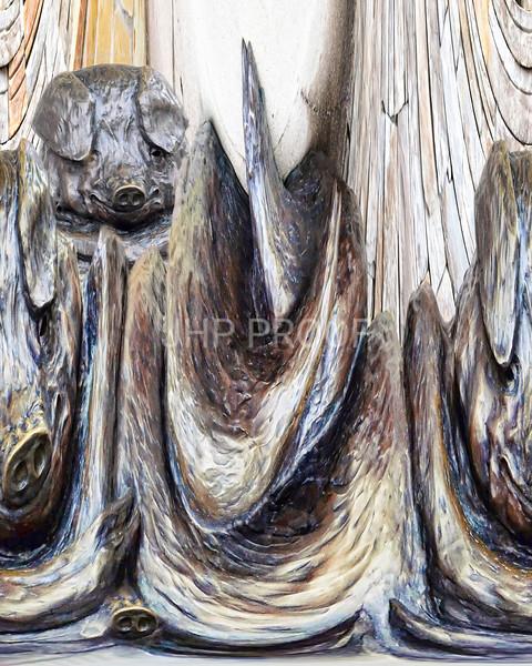 Porcus Metallicus 17x14    $275
